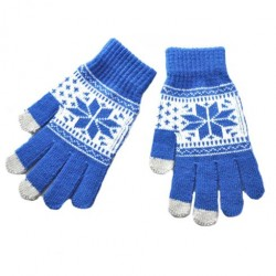 Zimní rukavice s norským vzorem modré