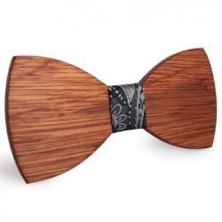 Mahoosive Dřevěný motýlek hnědý Beck