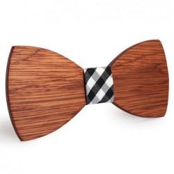 Mahoosive Dřevěný motýlek hnědý Barrow