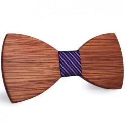 Mahoosive Dřevěný motýlek hnědý Bruce