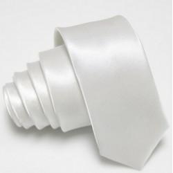 Úzká SLIM kravata bílá