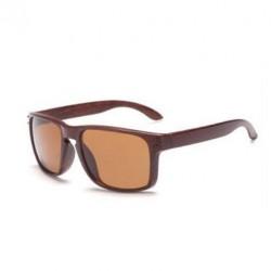Sportovní sluneční brýle dřevěné hnědé