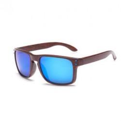 Sportovní sluneční brýle dřevěné modré