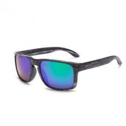 Sportovní sluneční brýle dřevěné zelené