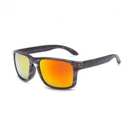 Sportovní sluneční brýle dřevěné oranžové