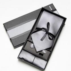 Kravatový dárkový set šedý