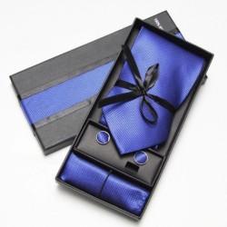 Kravatový dárkový set tmavě modrý