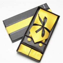 Kravatový dárkový set žlutý