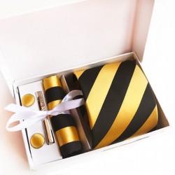 Darčeková sada kravata, vreckovka a manžetové gombíky