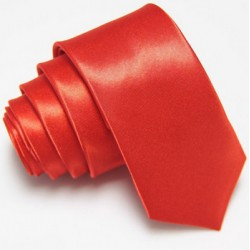 Úzká SLIM kravata červená