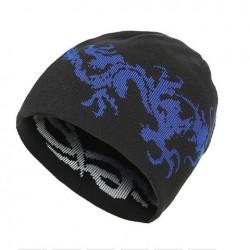 Moderní zimní pletená čepice černá