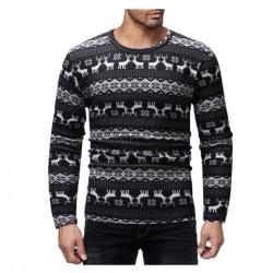 Pánský zimní svetr vánoční černý