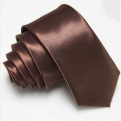 Úzká SLIM kravata hnědá
