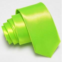 Úzká SLIM kravata limetková zelená