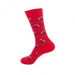 Pánské veselé ponožky ragbyový míč