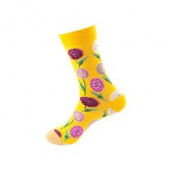 Pánské veselé ponožky květiny