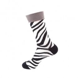 Pánské veselé ponožky zebra
