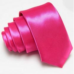 Úzká SLIM kravata růžová purpurová