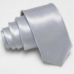 Úzká SLIM kravata stříbrná