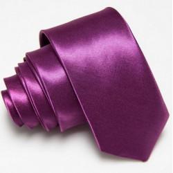 Úzká SLIM kravata tmavě fialová