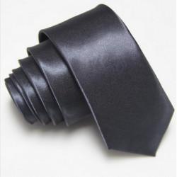 Úzka SLIM kravata tmavo šedá