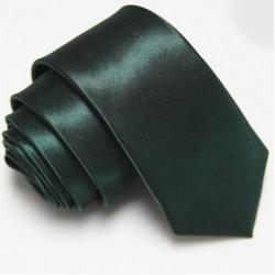 Úzká SLIM kravata tmavě zelená