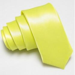 Úzka SLIM kravata zeleno žltá