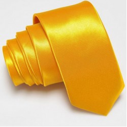 Úzká SLIM kravata žlutá