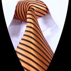 Hedvábná kravata oranžová LD0831